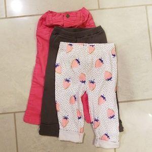 3 pack carters pants
